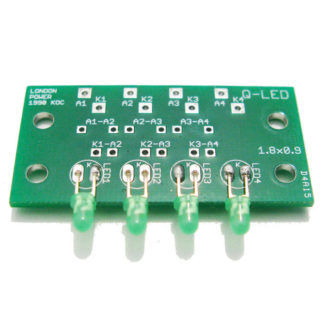 Four LEDs for Amp Panel